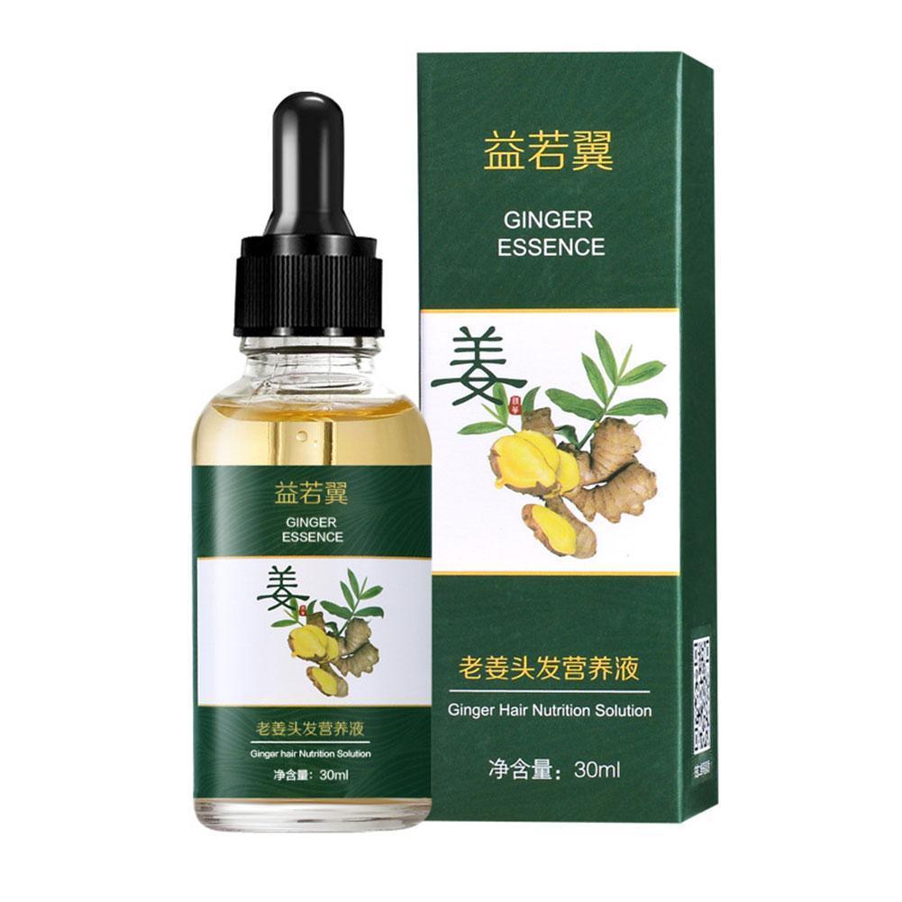 Hair Growth Essence Oil Natural Ginger Hair Growth Serum Nourishing Soften Treatment Hair Loss Repai