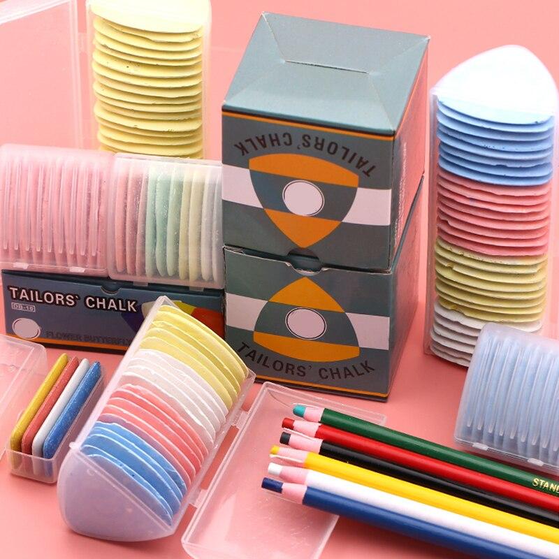 10 pces/20 pces/30 pces alfaiates multicoloridos da tela giz marcador apagável para acessórios de costura costurando giz