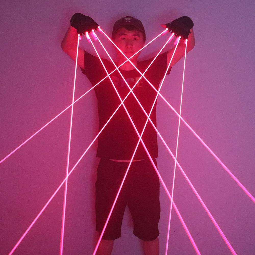 Лазерные перчатки 650 нм, светодиодные, для сцены
