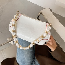 Stone Pattern Small PU Leather Shoulder Bags For Women 2021 Lady Crossbody Bag Female Handbags Chain