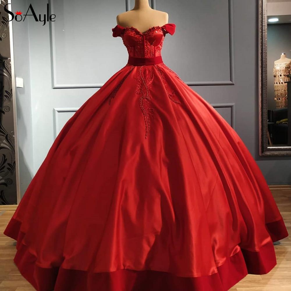 SoAyle Vestidos de Noche de lentejuelas árabes con cuentas vestido largo vestido de noche de fiesta de Dubai árabe
