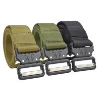 military army tactical belt nylon metal buckle heavy duty police combat belts hunting accessories outdoor training waist belt