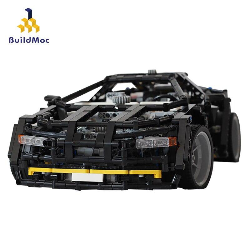 BuildMoc Super Racing Car building blocks Technic Sports Racer Vehicle Supercar Children Kids Speed Bricks Toys Gifts