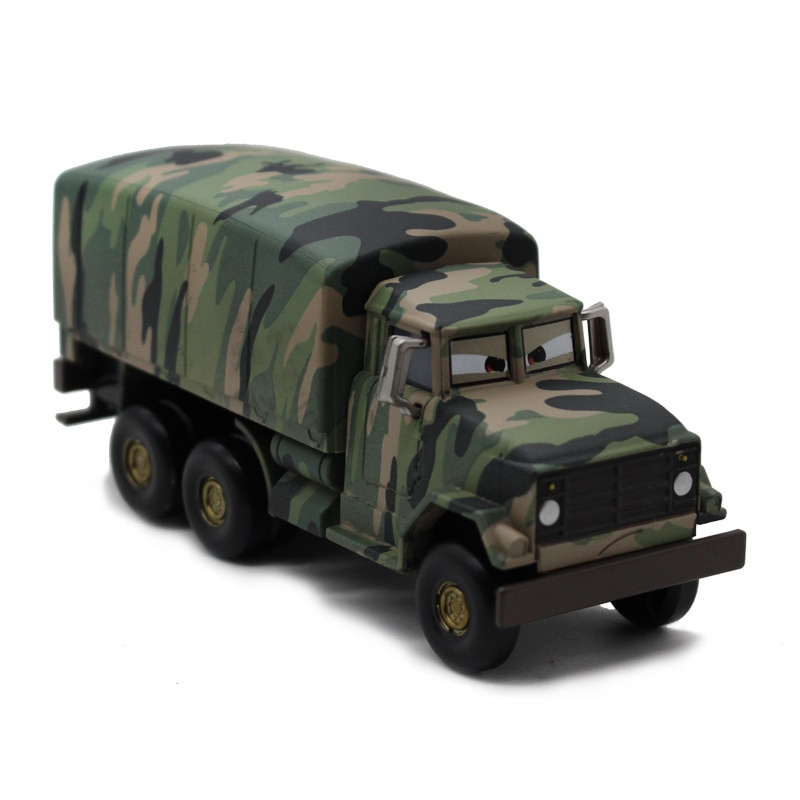 1 24 diecast model for naveco iveco nj2046 army truck green alloy toy car miniature collection gifts van Disney Pixar Car 3 Mc Queen Camouflage Army Truck Alloy Children's Toy Car 1:55 Diecast Metal Car Model Boy Toys Birthday Gifts