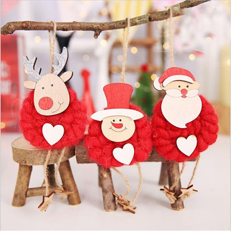 Conjunto De 3 unidades De adornos colgantes De Papá Noel, muñeco De...