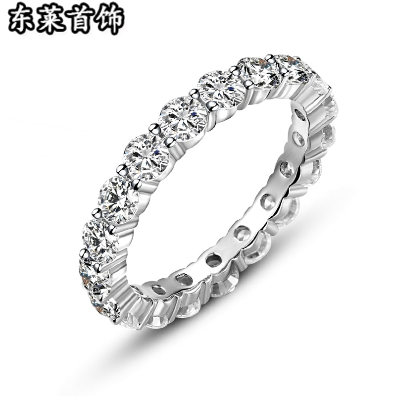 Cool Men's Silver Cluster Rings Transprent White Zirconia Sterling Fine Jewelry Party Casual R162