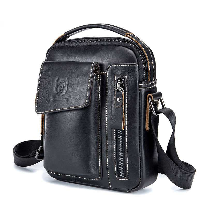 Men's Leather Bag Business Handbags Retro Shoulder Messenger Bag Multifunction Man Bag