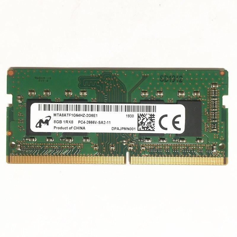 ميكرون DDR4 8GB 2666MHz RAM 8GB 1RX8 PC4-2666V-SA2-11 ddr4 2666 8gb كمبيوتر محمول الذاكرة