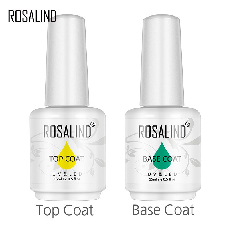 ROSALIND 15ml Multi-Use Top And Base Coat Gel Nail Polish Gel Polish Vernis Semi For Nail Art Design