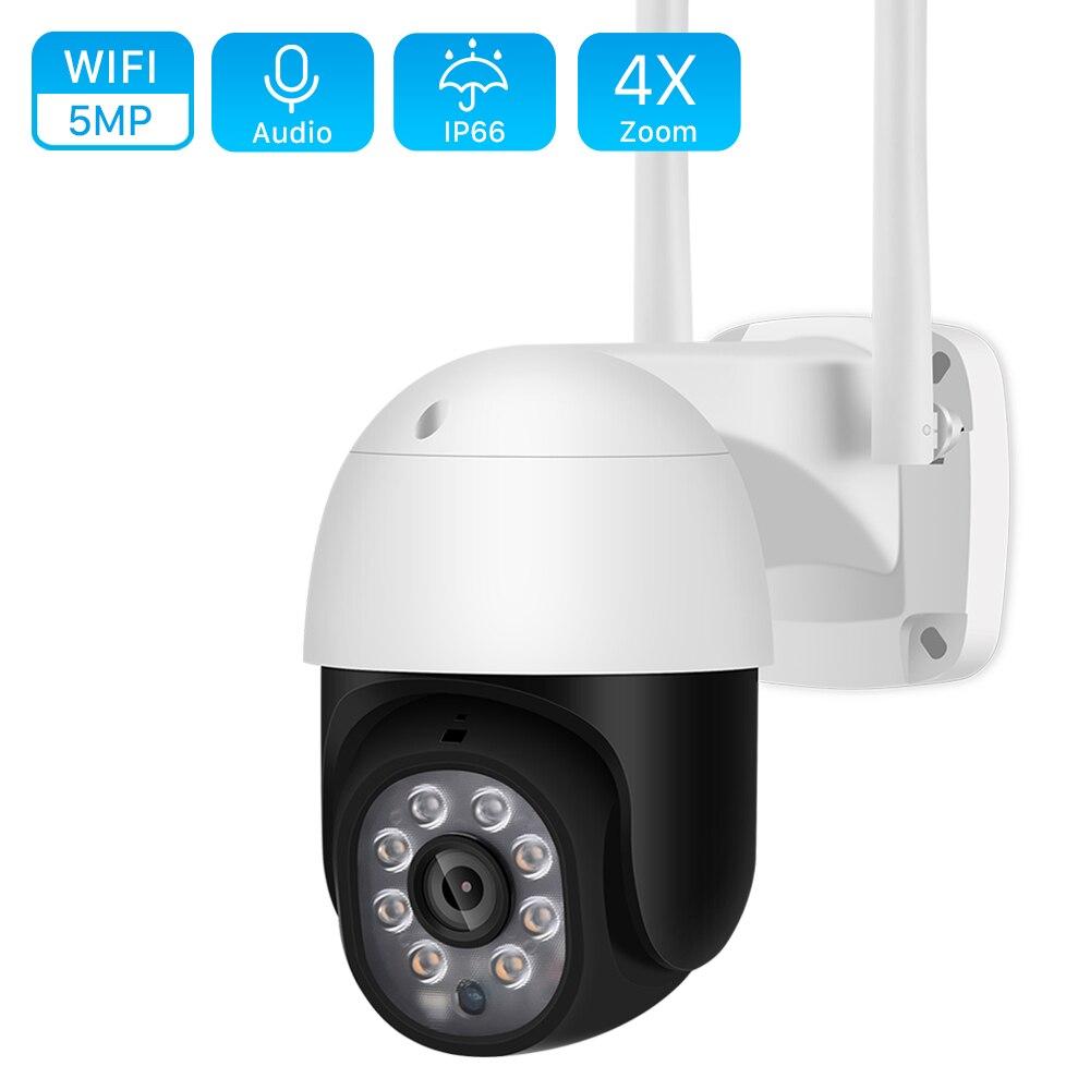 كاميرا IP خارجية 5 ميجابكسل PTZ Wifi ، جهاز أمان جداري لاسلكي ، مع تتبع تلقائي ، تقريب رقمي 4X ، 3MP ، كشف بشري ia ، P2P