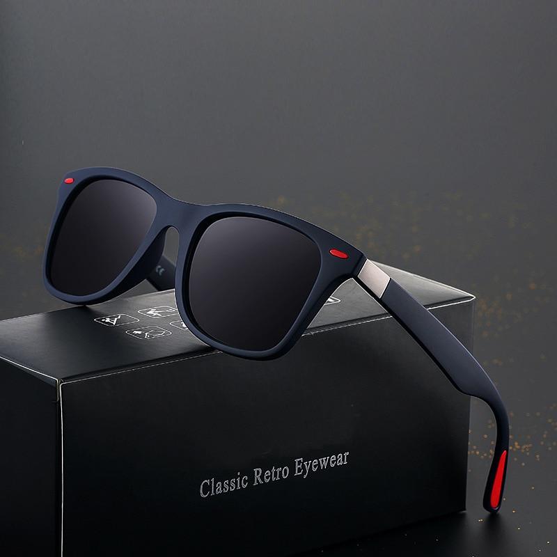 Erilles Brand Design Polarized Sunglasses Men Women Driver Shades Male Vintage Sun Glasses Spuare Mi