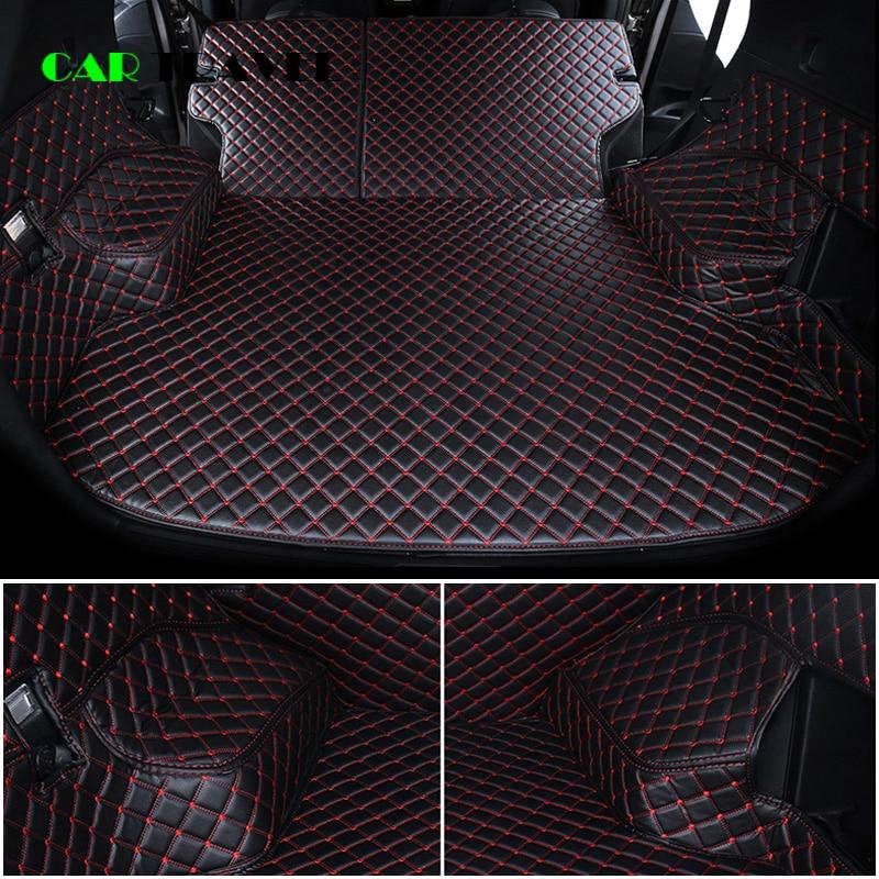 Custom leather Car Trunk Mats For Nissan X-Trail Rogue XTrail T30 T31 T32 2001 - 2018 Rear Trunk Floor Mat Tray Carpet Mud