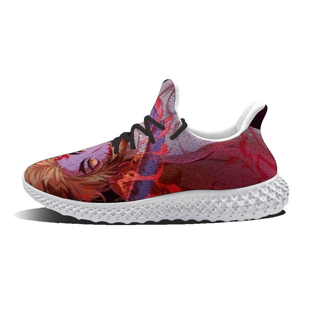 2021 الصيف لتقوم بها بنفسك مخصص احذية الجري أحذية رياضية الكرتون الشباب موضة شخصية الشارع نمط كامدو Tanjirou أنيمي الرجال و