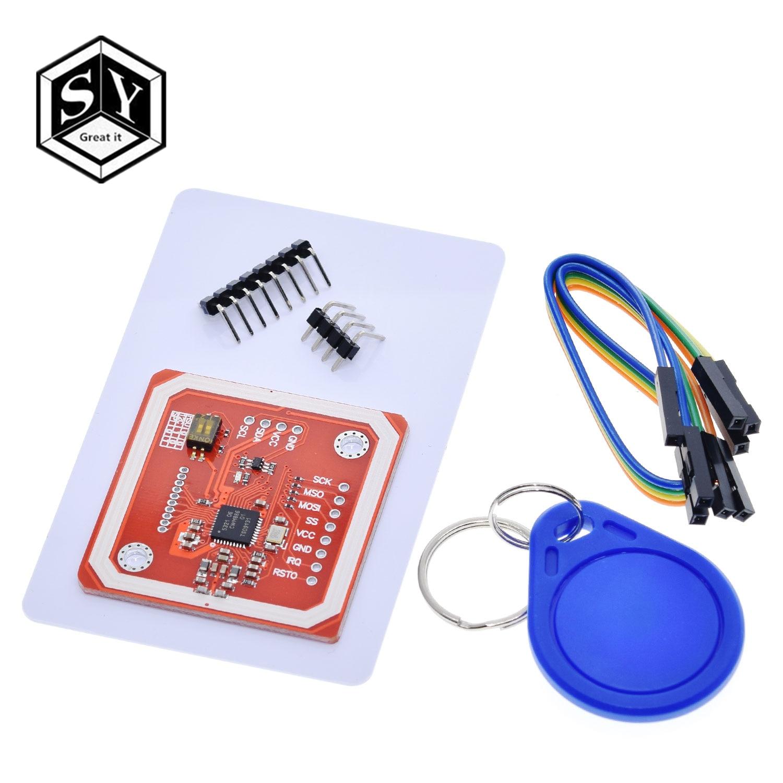 1 conjunto excelente IT PN532 NFC RFID módulo inalámbrico V3 Kits de usuario lector escritor modo IC S50 tarjeta PCB Attenna I2C IIC SPI HSU para Arduino