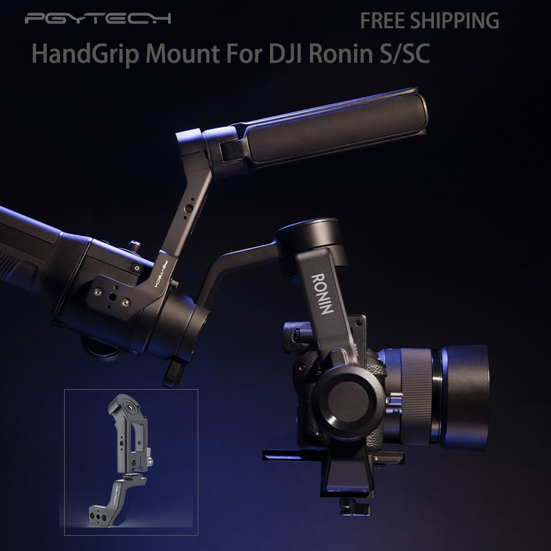 PGYTECH, empuñadura de montaje de cámara de Metal con mango superior de 3 posiciones Allai 1/4, interfaz 2, Zapata fría, adaptador de montaje para DJI Ronin S/SC