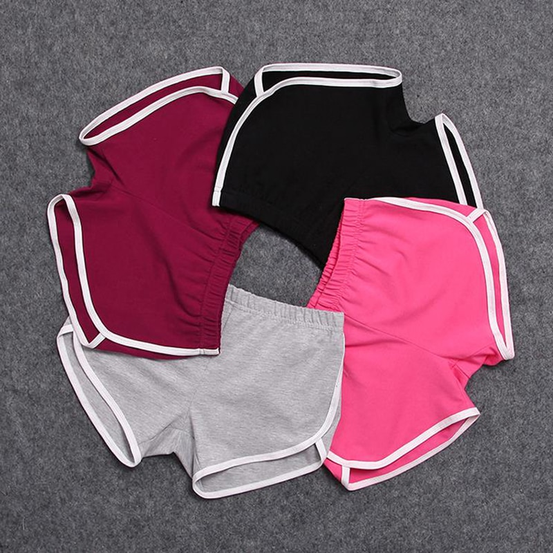 CALOFE Women Short Pant Casual Lady All- Loose Solid Soft Cotton Leisure Female Workout Waistband Sk