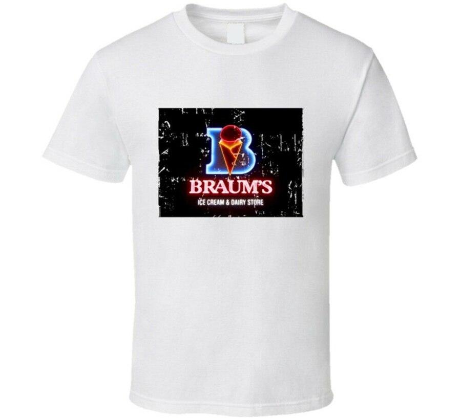 Braums Fast Food Restaurante Olhar Afligido Tops Tee T Camisa Plus Size T-Shirt