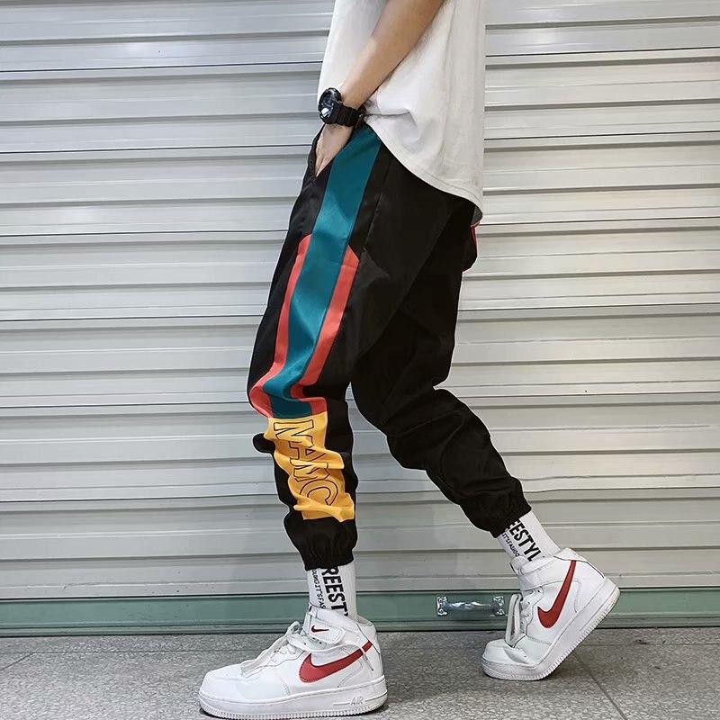 2021 New Hip Hop Streetwear Joggers Pants Men Casual Cargo Pant Trousers  Elastic Waist Harem Pant Man