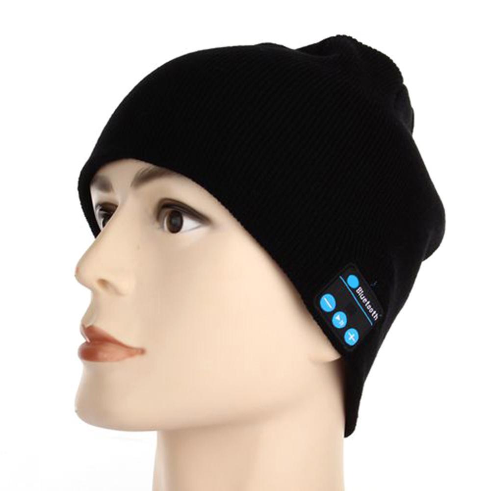 Зимние Bluetooth USB Перезаряжаемые Музыкальная гарнитура теплая вязаная шапочка-бини Кепки дышащая Для мужчин, мужские и женские бейсбольные ке...