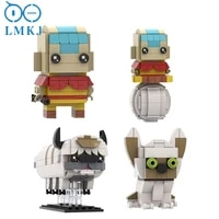 moc the last airbendert series figure cows dogs constructor decoration mini model building block bricks for childrens toys gift