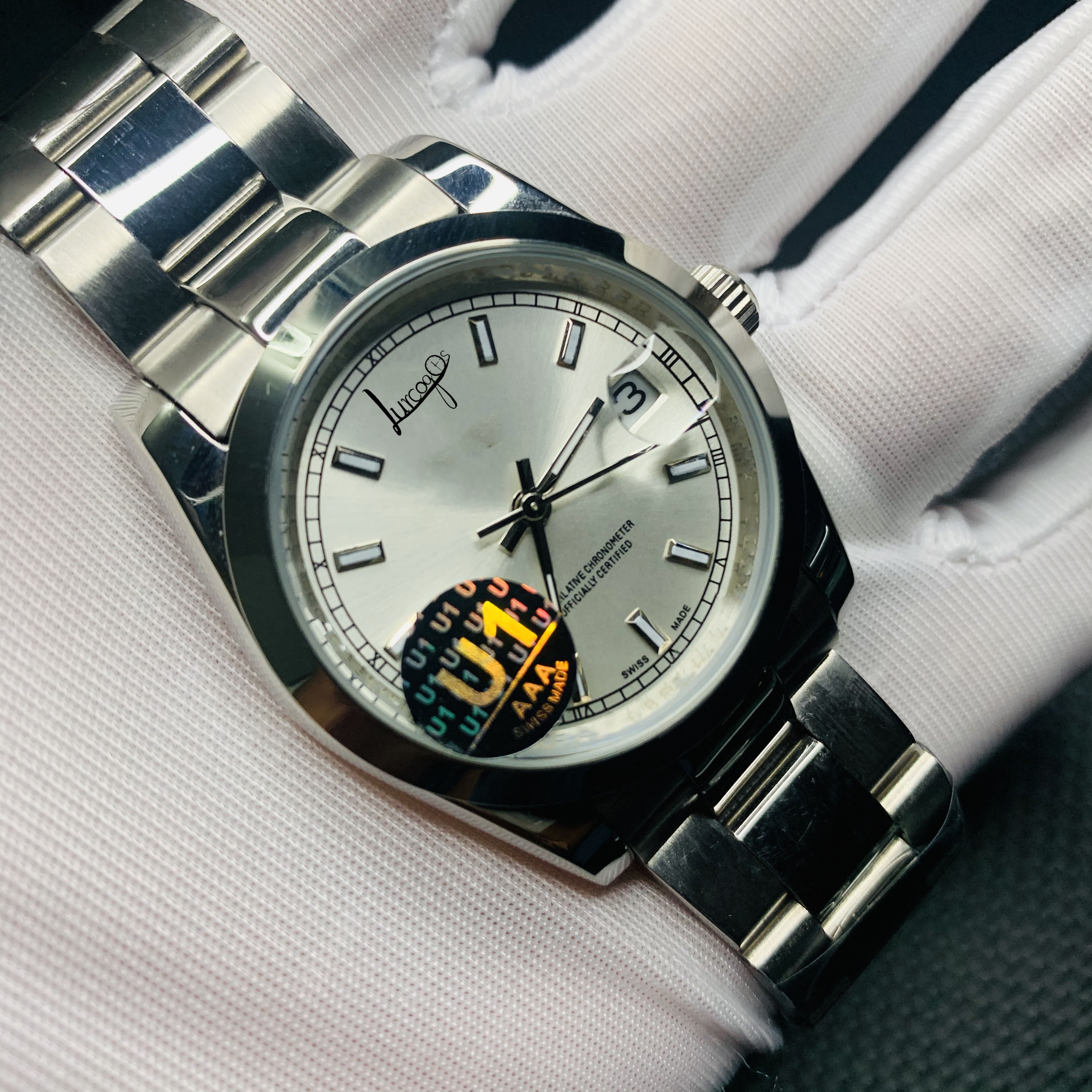 High-end watches datejust Men watch automatic silver Glide Smooth second hand watch luminous mechanical Watches free delivery