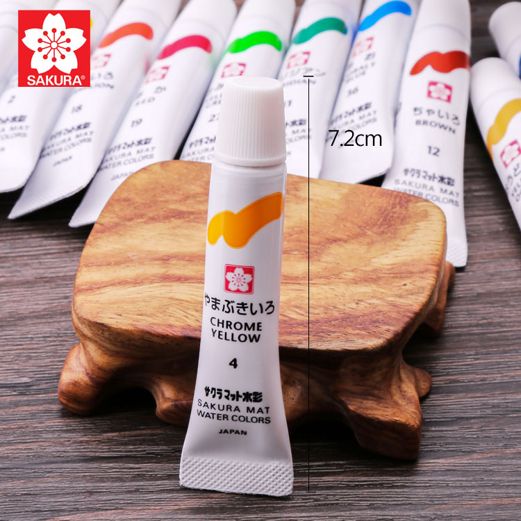 12/15/18/24 Set Cherry Blossom Watercolor Paint Blue Box Translucent Beginner's Hand-painted Watercolor Painting Paint Set