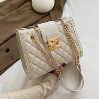 chain designer pu leather crossbody bags for women 2020 womens winter simple style handbags branded trending hand bag
