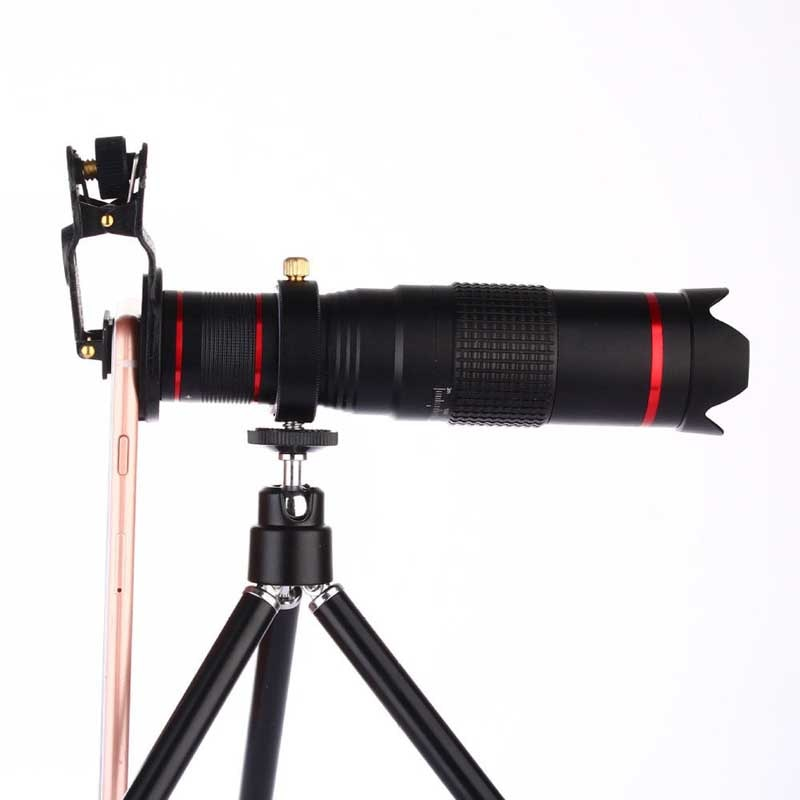 Clipe universal 22x duplo zoom telefoto telescópio 4 k hd telefone lente da foto para huawei p9 plus p8 lite honra 10 9i jogar v10 9 8 7 6a