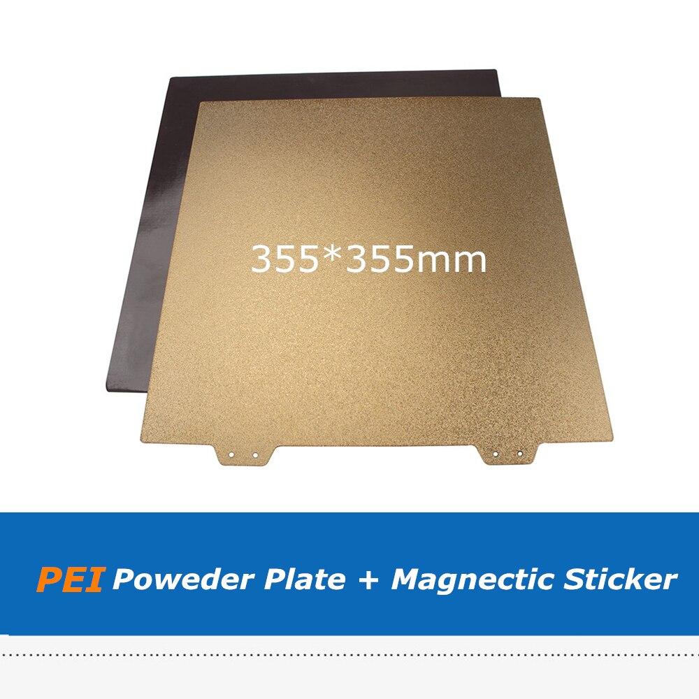 355*355 мм двухсторонняя текстурированная порошковое покрытие, пружинная стальная пластина PEI + Магнитный Лист наклейки для Voron 350 V2, детали для 3D-принтера