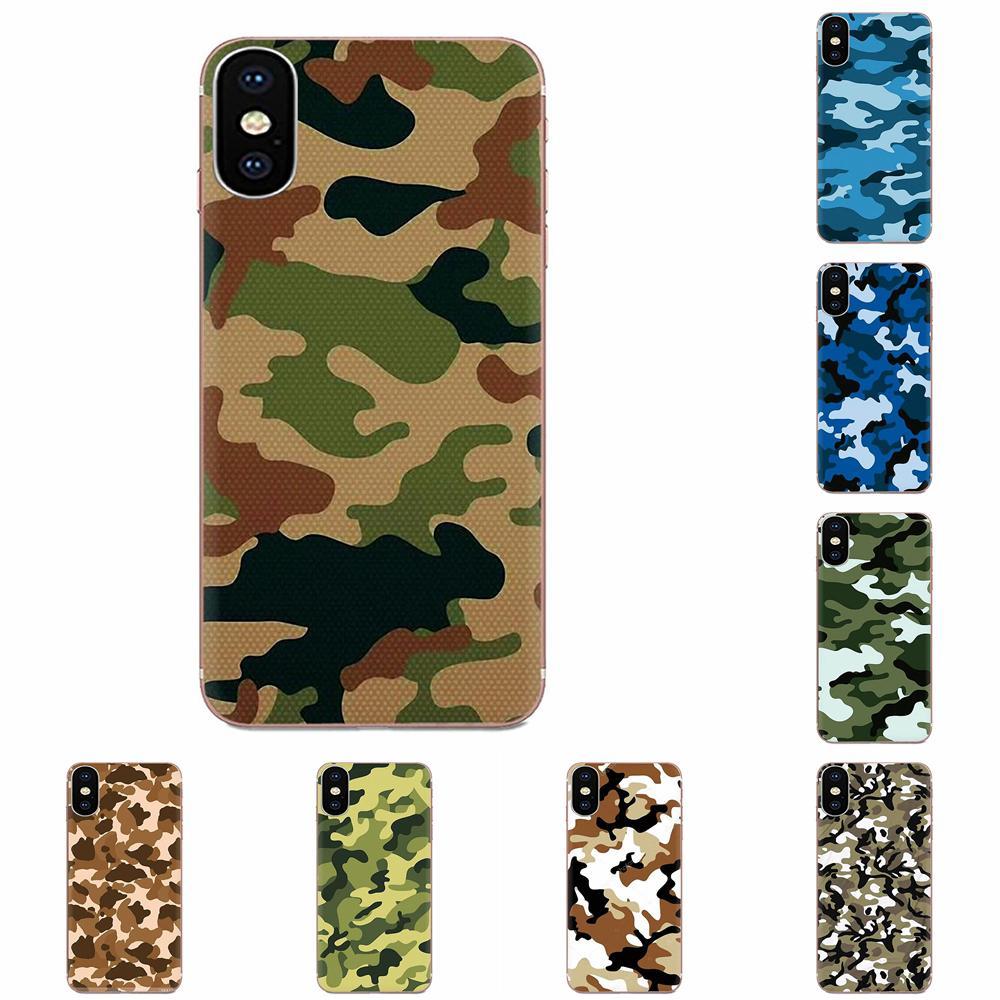 Para HTC deseo 530, 626, 628, 630, 816, 820, 830 A9 M7 M8 M9 M10 E9 U11 U12 Vida Plus de silicona cubierta de la piel de Camo del ejército camuflaje