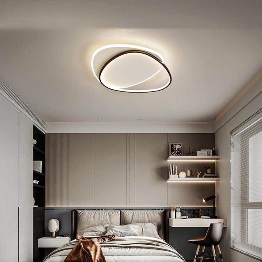 الحديثة بسيطة العلوي LED مصباح السقف الشمال مزيج الجولة تصميم الثريا المنزل غرفة نوم الطعام غرفة المعيشة دراسة ديكور