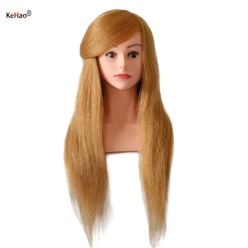 رأس عارضة أزياء 24 بوصة مع كتف ، شعر طبيعي حقيقي 100% ، لتدريب الشعر ، للرسم ، ملتوي ، رأس دمية