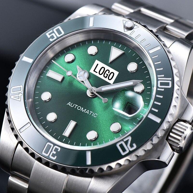 Мужские часы, рольксальные часы, наручные часы, автоматические механические Miyota Move, мужские часы из нержавеющей стали, сапфировые водонепроницаемые часы AAA