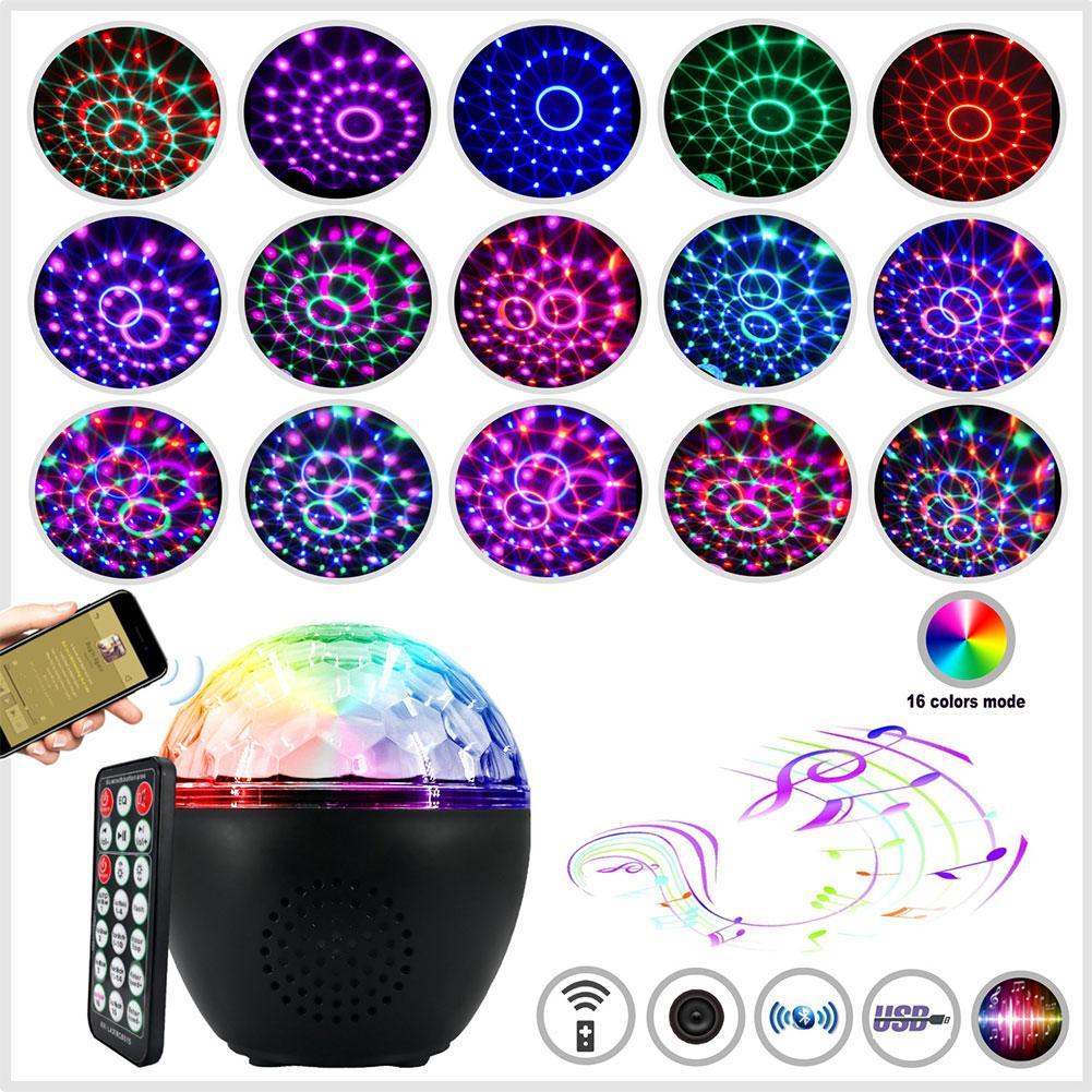 16 colores LED fiesta efecto Disco bola luz etapa luz láser lámpara proyector escenario lámpara música KTV festival Fiesta LED lámpara dj Luz
