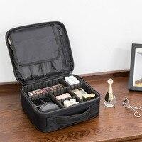 Oxford Travel Makeup Organizer With Handle Waterproof Cosmetic Storage Lipstick Jewelry Brush Box Portable Shakeproof Makeup Bag