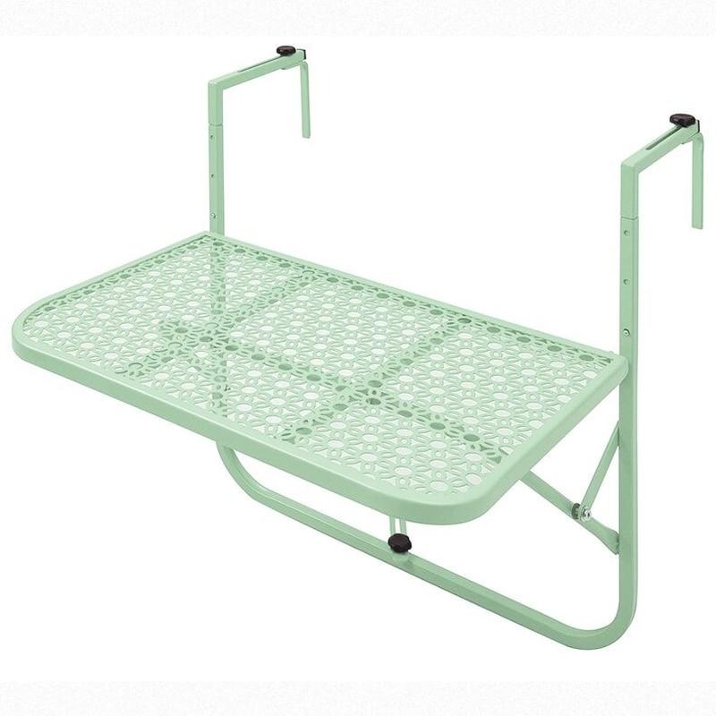 Mini colgador de pared sencillo europeo, mesa pequeña de aprendizaje, barandilla para colgar en balcón, mesa plegable de hierro forjado WF614939