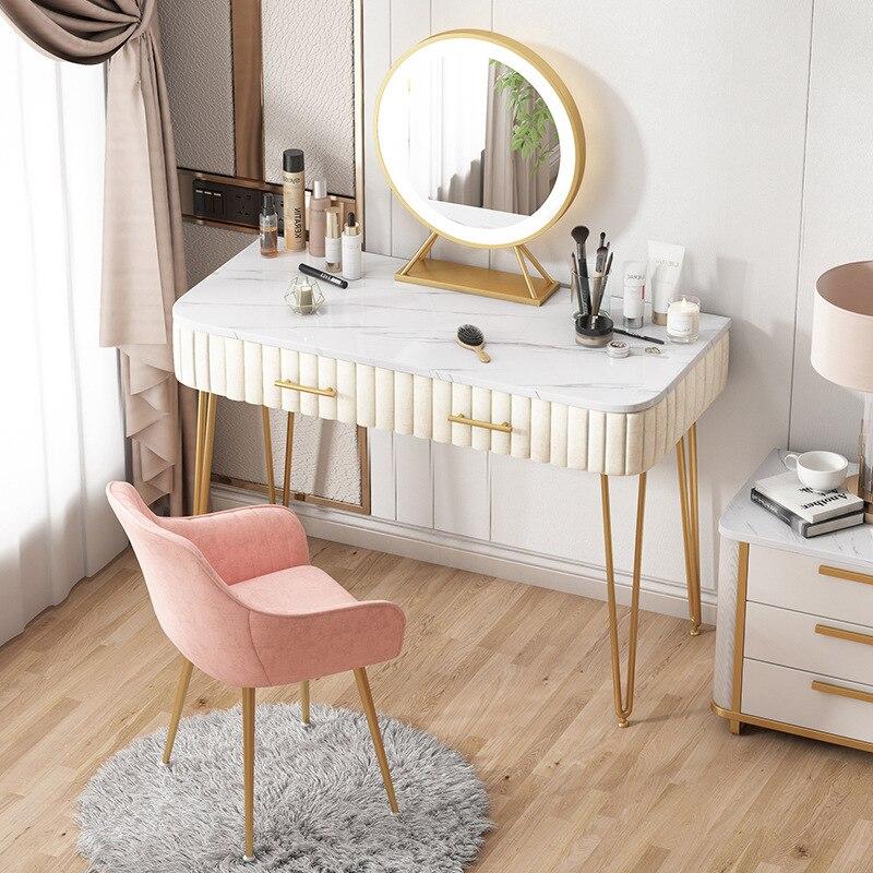 Туалетный столик с подсветкой, роскошный современный туалетный столик для маленькой квартиры с одной спальней, туалетный столик в стиле ins