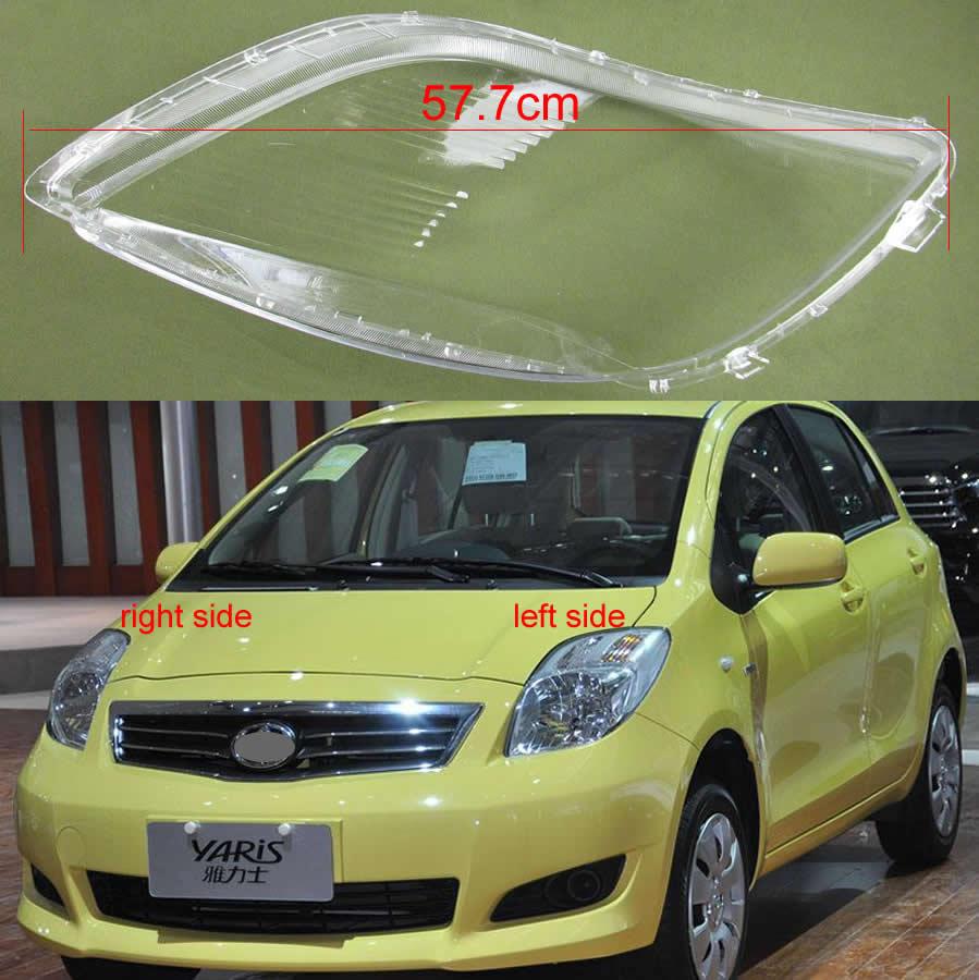Para Toyota Yaris 2008 2009 2010 2011 faros cubierta transparente faros delanteros pantallas de lámpara transparentes máscaras de concha