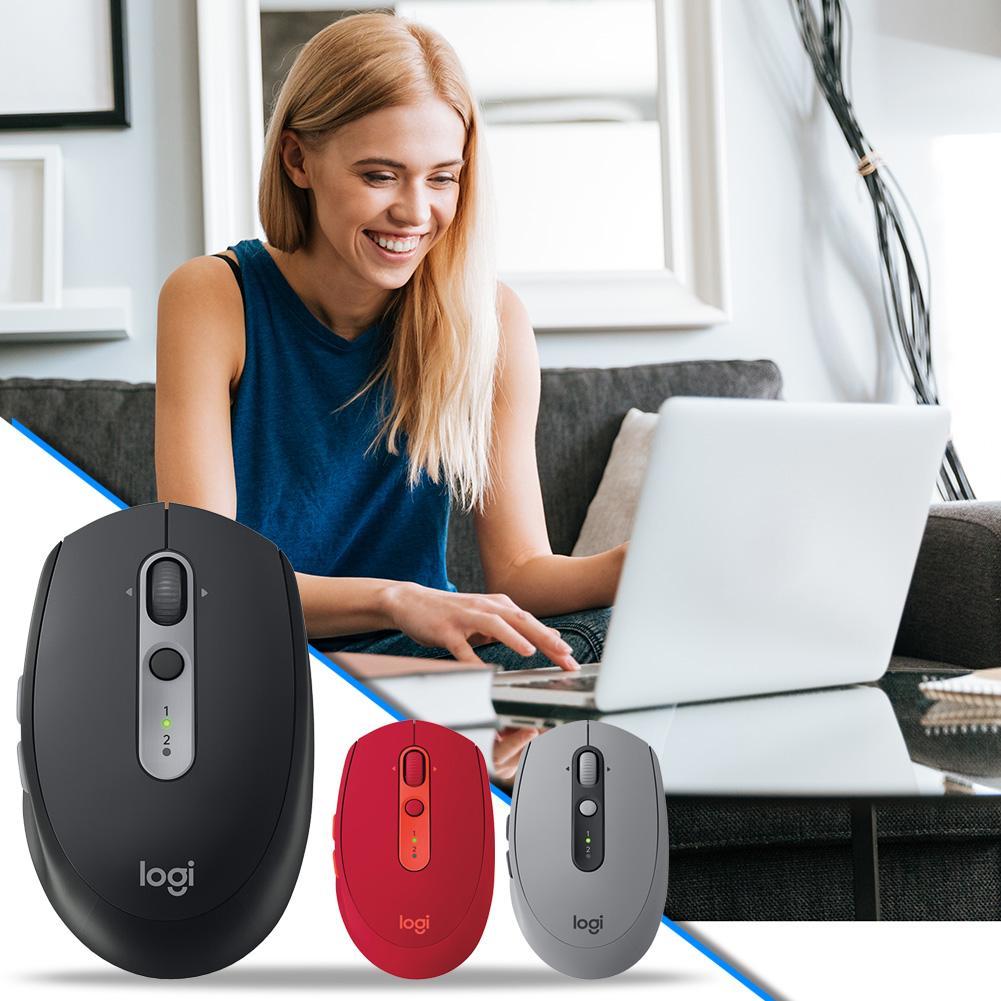 لوجيتك-ماوس لاسلكي M590 ، 1000 ديسيبل متوحد الخواص ، 7 مفاتيح ، صامت ، للكمبيوتر الشخصي ، سطح المكتب