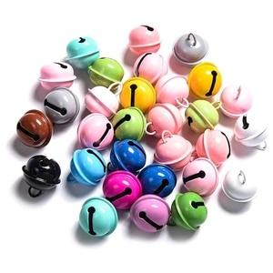 Christmas Crafts Bells Jingle Bells, 22mm Big Bells DIY Bells for DIY Bracelet Anklets Jewelry Making(Colorful,50Pcs)
