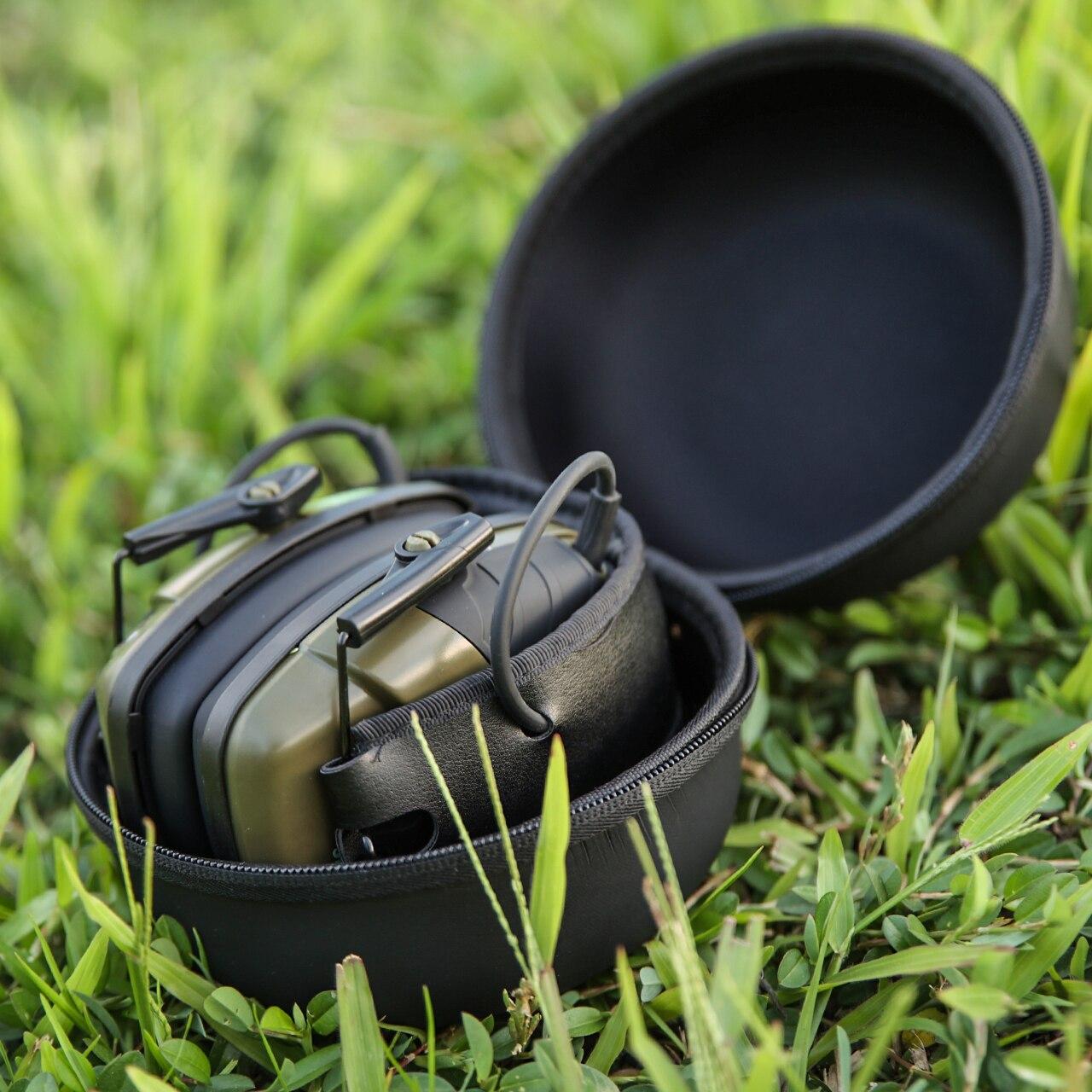 الجملة 2 قطعة إلكتروني اطلاق النار سماعات الأذن الرياضة في الهواء الطلق مكافحة الضوضاء سماعة تأثير الصوت تضخيم سماعة واقية