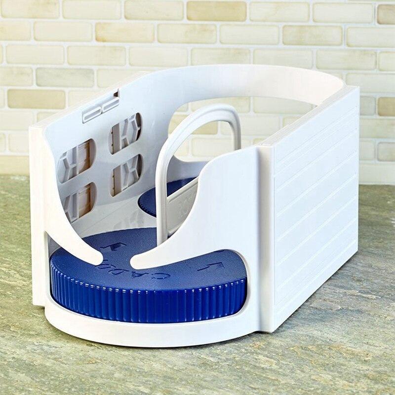 Nueva caja de almacenamiento de rotación de doble rodillo, estante multifunción para baño, organizador giratorio, estantes de cocina