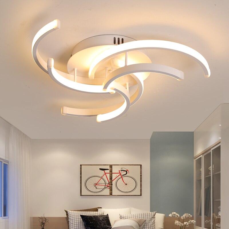 Lican moderno led lustre de teto iluminação avize lustres led para sala estar quarto decoração casa ferro branco