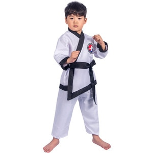 Kids Taekwondo Coach Shirt Pants Suit Halloween Cosplay Costumes Boys Girls Pretend Game Party Role Play Outfit Dress Up Clothes