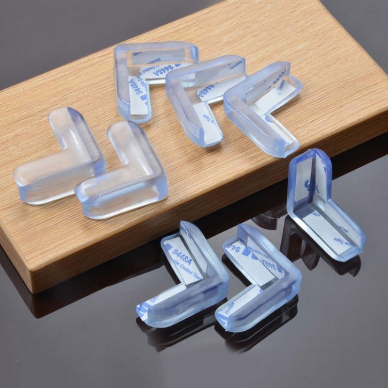 Silikon Baby Kind Sicherheit Tisch Wachen Ecke Anti-kollision Klar Gummi Möbel Ecke Rand Tisch Kissen Schutz Protector