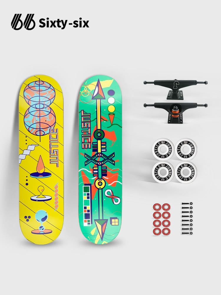 Professional Street Skateboard Wood Complete Land Surfboard Skateboards Thrasher Shape Maple Rullebrett Fitness Equipment BI50SB
