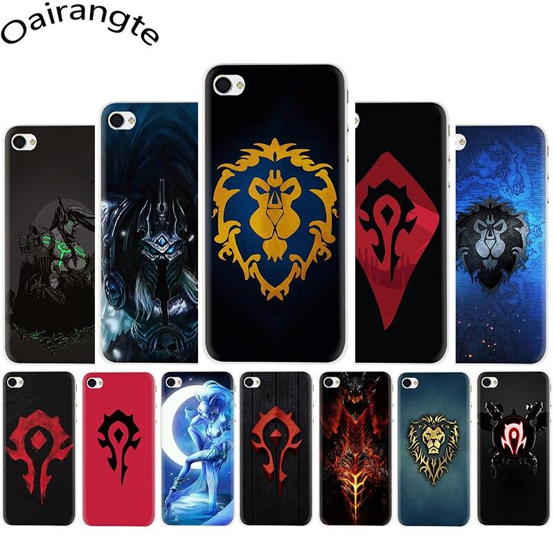 Mundo de Warcraft duro caso de la cubierta del teléfono para iphone 5 5s 5C SE 2020 6 6s 7 7 Plus X XR XS 11 pro Max