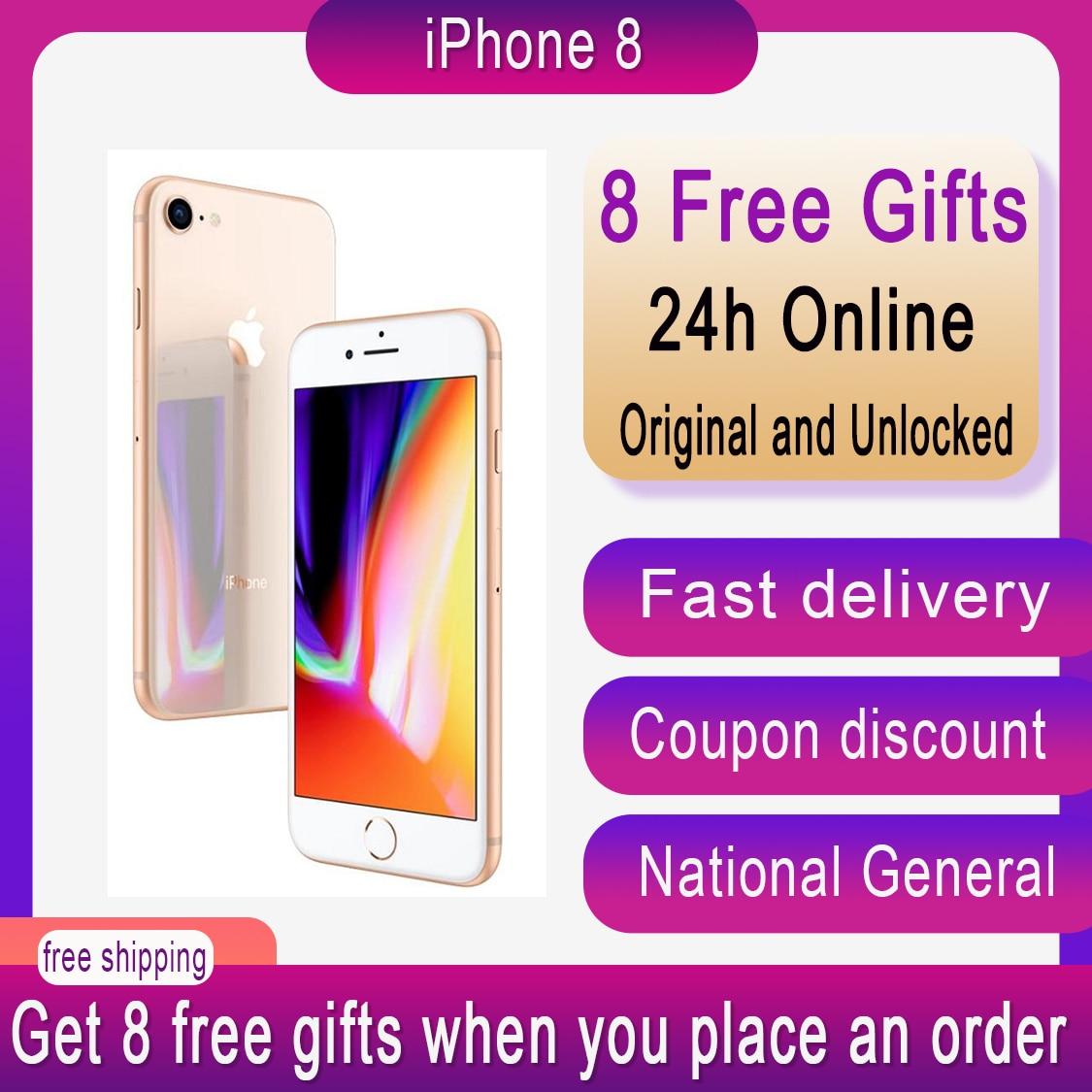 Original Apple iPhone 8 iphone8 3D Touch ID 2GB RAM 64/256GB ROM Hexa-core IOS 12.0MP Camera 4.7 inch Apple Fingerprint 1821mAh