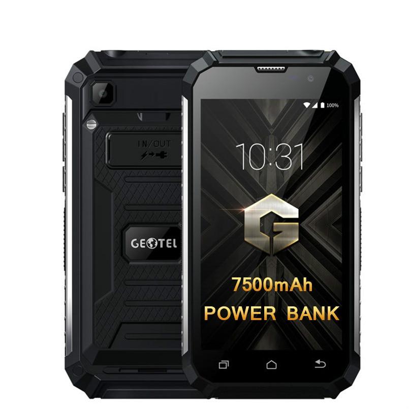 Geotel G1 7500mAh banco de potencia 5,0 pulgadas MTK6580A Quad Core teléfono móvil Android 7,0 2GB RAM 16GB ROM Smartphone