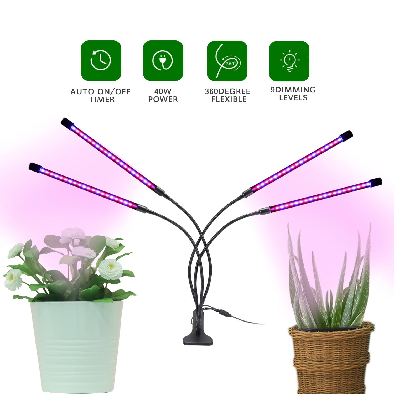 IngHoo-مصباح نمو نباتي LED ، مصباح داخلي ، طيف كامل ، مقبس USB ، تحكم في الأسلاك ، زراعة ، شتلات زهرة